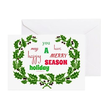 Holiday Message Greeting Cards (pk Of 10)