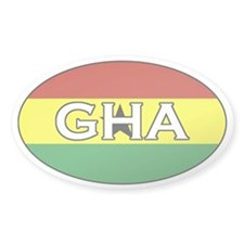 Ghanaian Flag Oval Decal