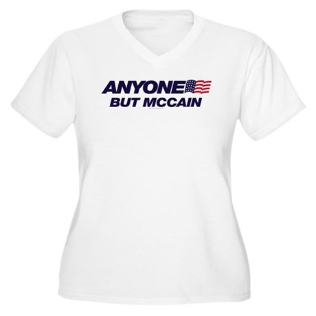 Anyone But McCain Plus Size V-Neck Shirt