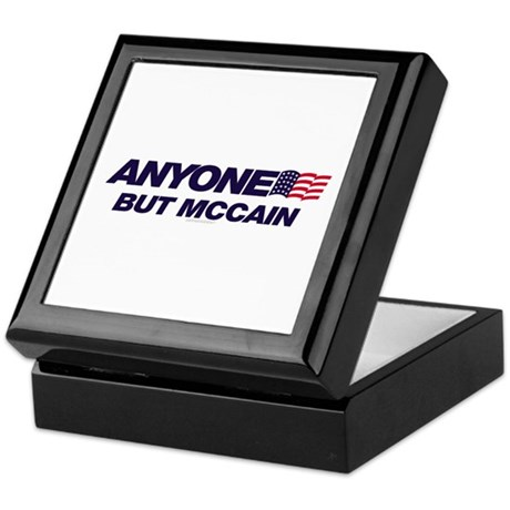 Anyone But McCain Keepsake Box