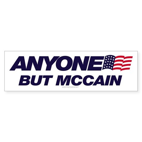 Anyone But McCain Bumper Sticker