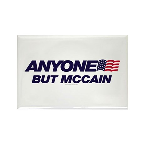 Anyone But McCain Rectangle Magnet