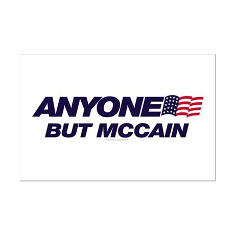 Anyone But McCain Mini Poster Print