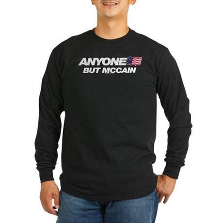 Anyone But McCain Long Sleeve Dark T-Shirt