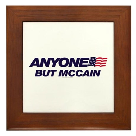 Anyone But McCain Framed Tile