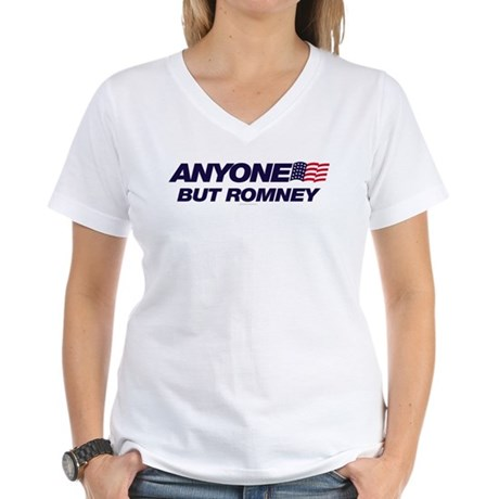 Anyone But Romney Womens V-Neck T-Shirt