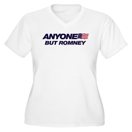 Anyone But Romney Plus Size V-Neck Shirt