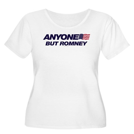 Anyone But Romney Womens Plus Size Scoop Neck T-S