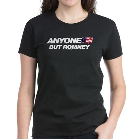 Anyone But Romney Womens Dark T-Shirt