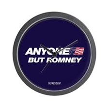 Anyone But Romney Wall Clock