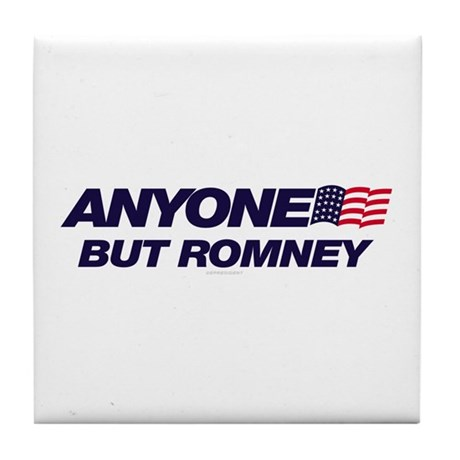 Anyone But Romney Tile Coaster