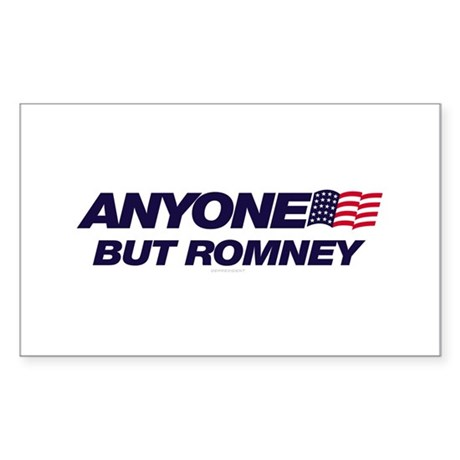 Anyone But Romney Rectangle Sticker