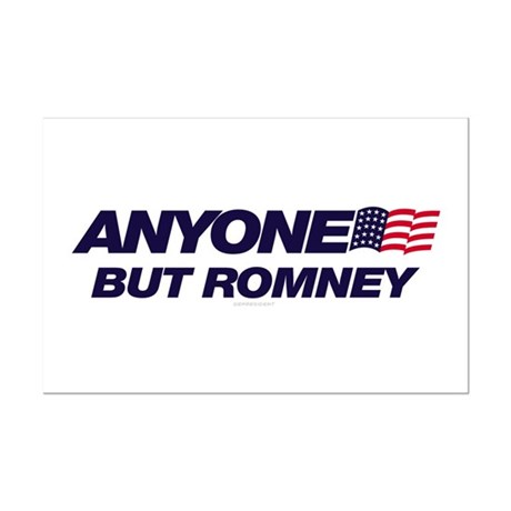 Anyone But Romney Mini Poster Print