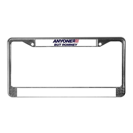 Anyone But Romney License Plate Frame