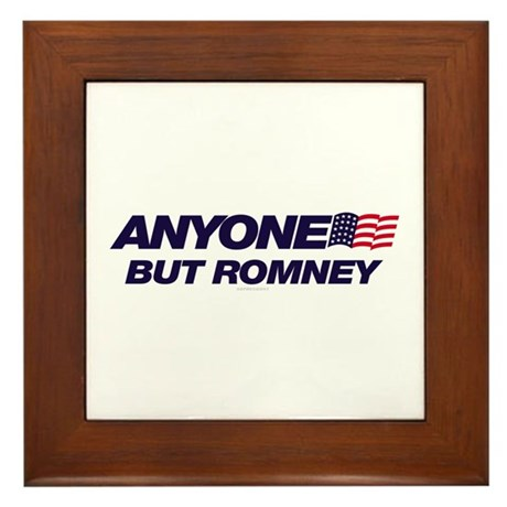 Anyone But Romney Framed Tile