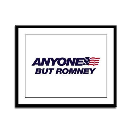 Anyone But Romney Framed Panel Print