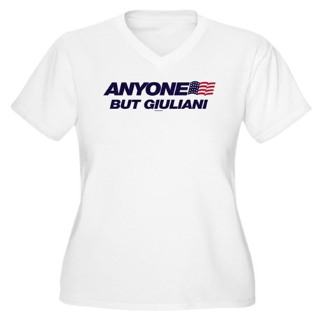 Anyone But Giuliani Womens Plus Size V-Neck T-Shi