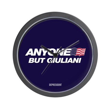 Anyone But Giuliani Wall Clock