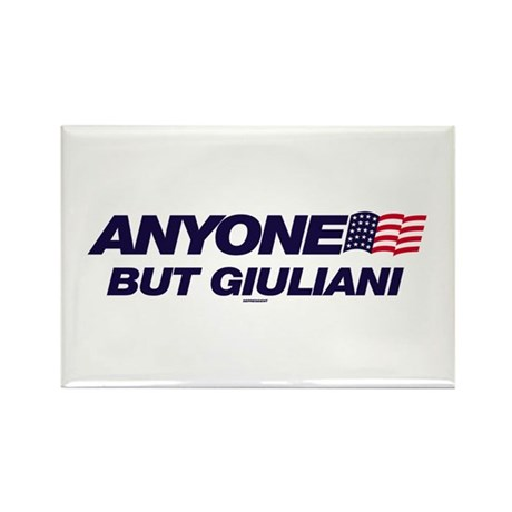 Anyone But Giuliani Rectangle Magnet