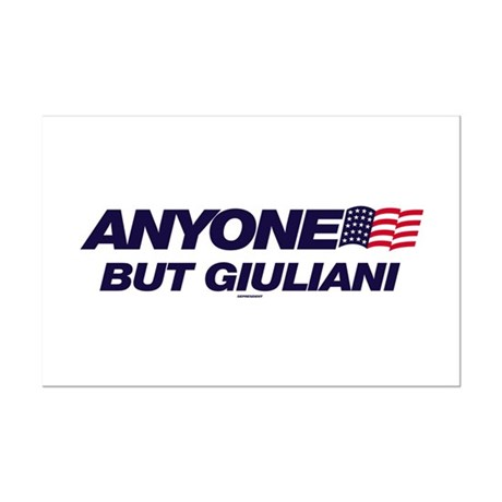 Anyone But Giuliani Mini Poster Print