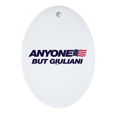Anyone But Giuliani Oval Ornament
