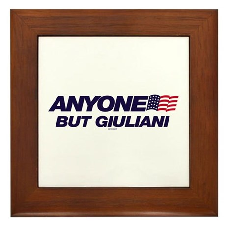 Anyone But Giuliani Framed Tile