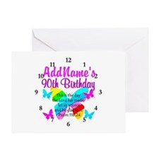 BLESSED 90TH Greeting Card