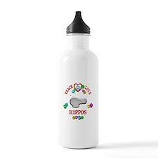 Peace Love Hippos Water Bottle