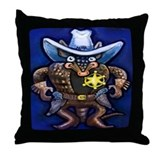 Funny Cowboy kids Throw Pillow