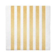 Gold Glittery Stripes Queen Duvet