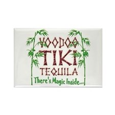Voodoo Tiki Tequila Rectangle Magnet
