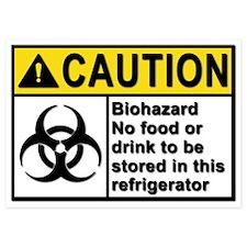 Biohazard - Caution - 5 Invitations