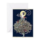 Art deco christmas Greeting Cards