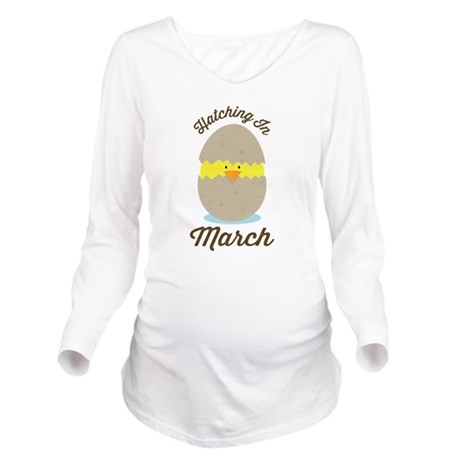 March Due Date chick Long Sleeve Maternity T-Shirt