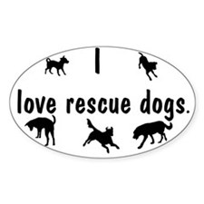 I Love Rescue Dogs Decal