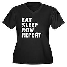 Eat Sleep Row Repeat Plus Size T-Shirt