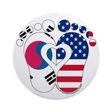 Korean American Baby Ornament (Round)