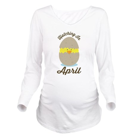 Hatching In April baby chick Long Sleeve Maternity
