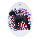 Giant Schnauzer Patriot Oval Ornament