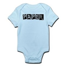 Funny Rock paper scissors Infant Bodysuit
