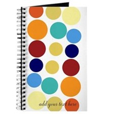 Custom Bright Party Dots Journal