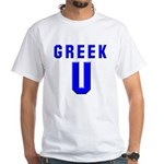Greek U White T-Shirt