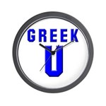 Greek U Wall Clock