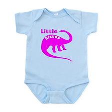 Little Sister Dinosaur Body Suit