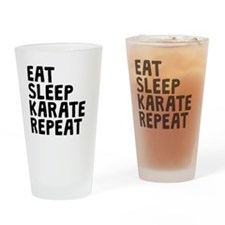 Eat Sleep Karate Repeat Drinking Glass