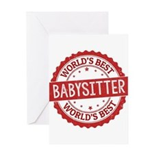 World's Best Babysitter Greeting Cards