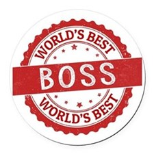 World's Best Boss Round Car Magnet