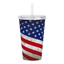 Vintage Stars and Stri Acrylic Double-wall Tumbler