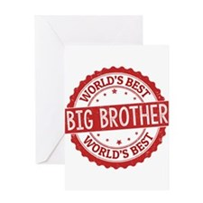 World's Best Big Brother Greeting Cards