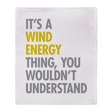 Wind Energy Thing Throw Blanket
